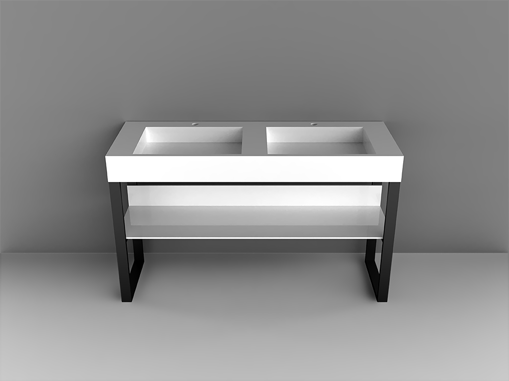 Square Console DoubleBathroom Cabinets