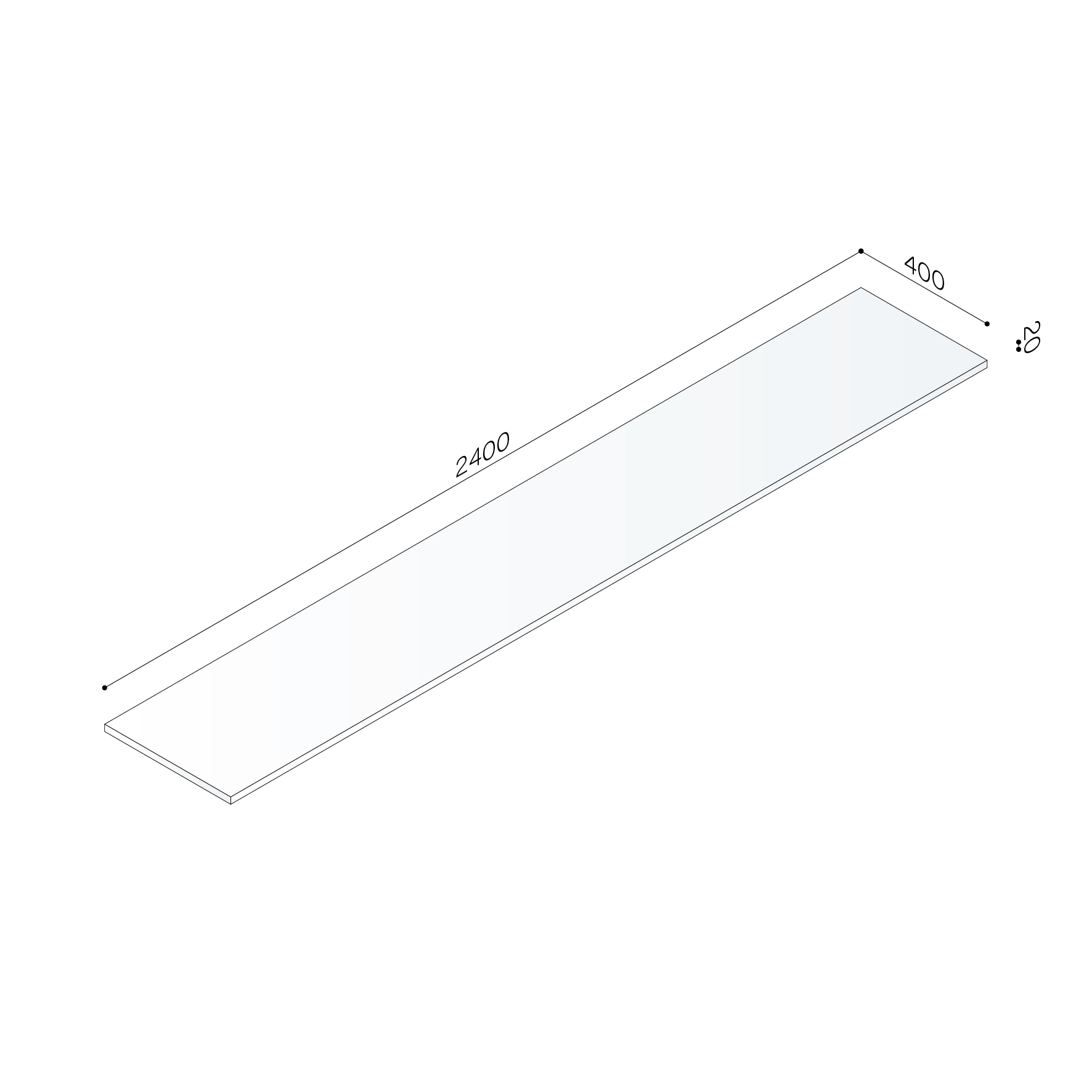 Shelf Thickness 20 Mm