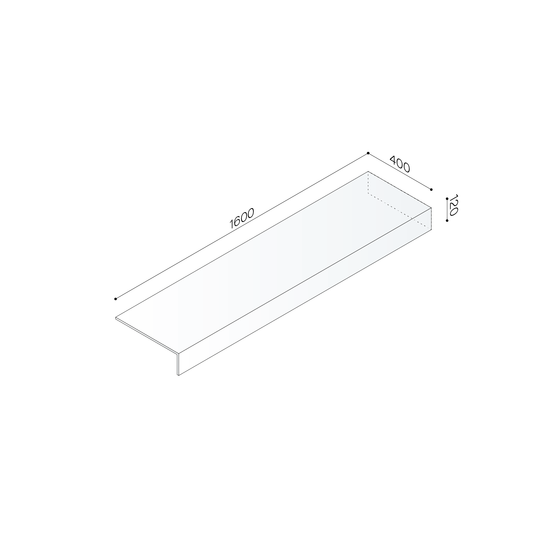 Shelf Thickness 30 Mm