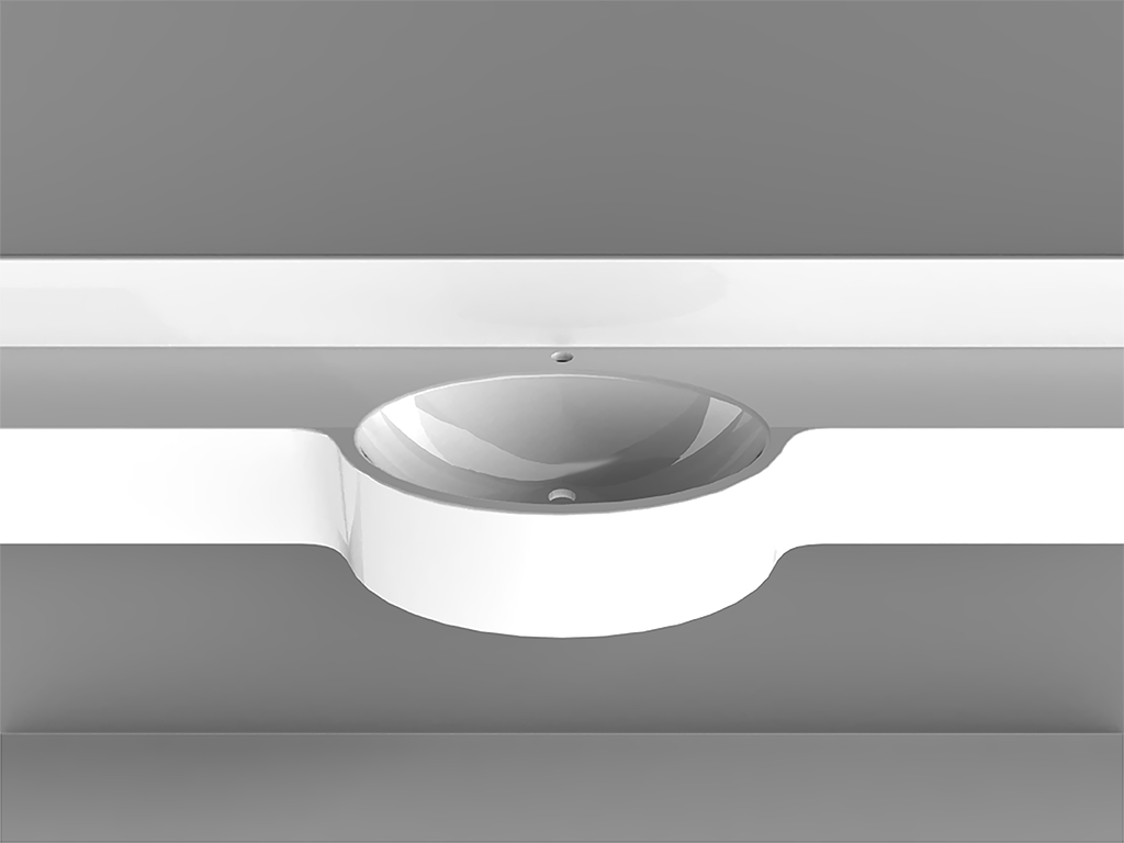 Cipro 1Wall-mounted Washbasin