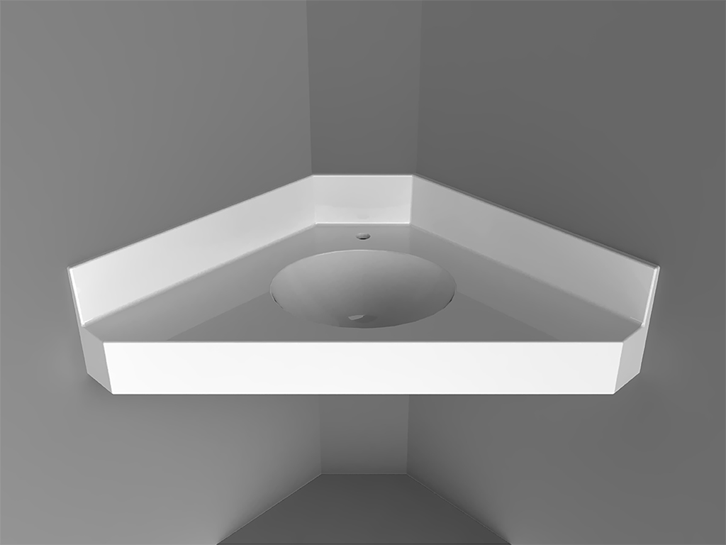 IseoCorner-mounted Washbasin