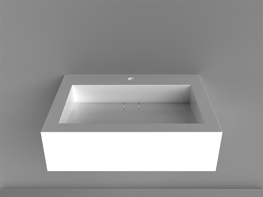 Modulo 1Wall-mounted Washbasin