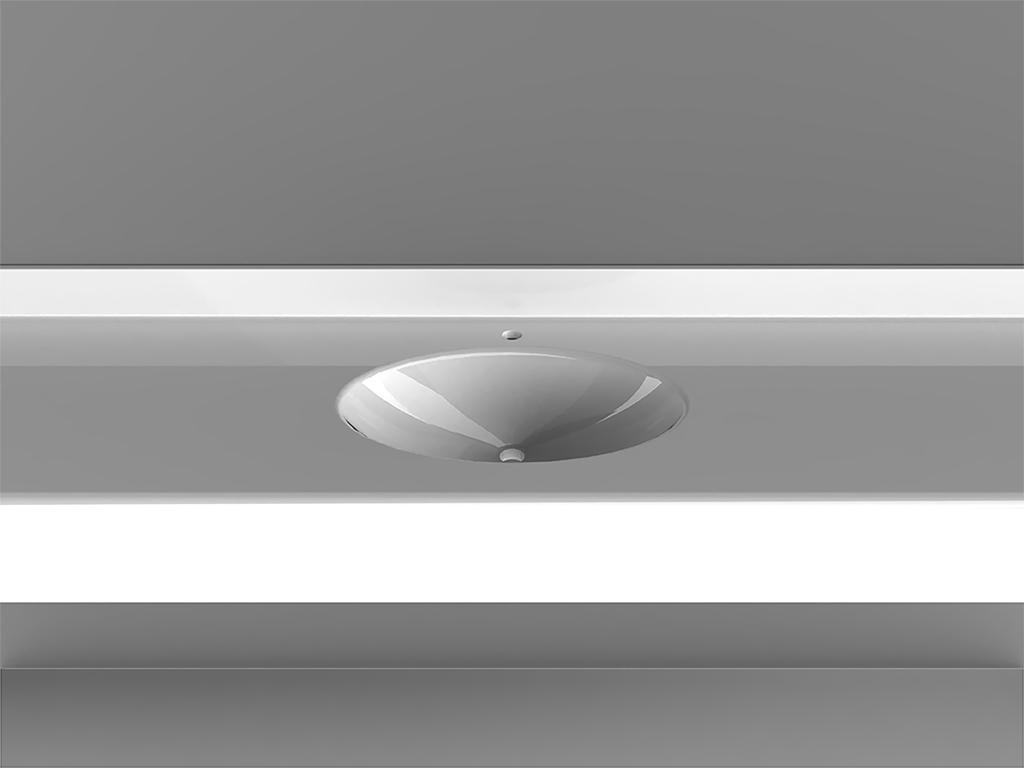 Oval 1Wall-mounted Washbasin