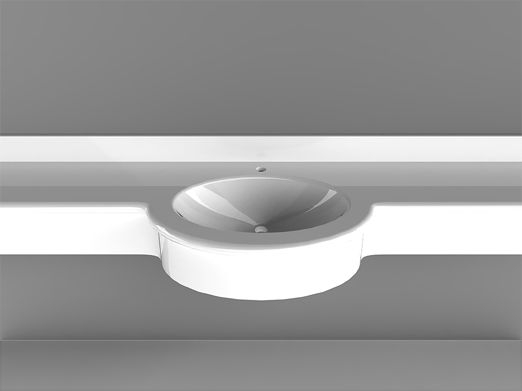 Oval Small 1Wall-mounted Washbasin