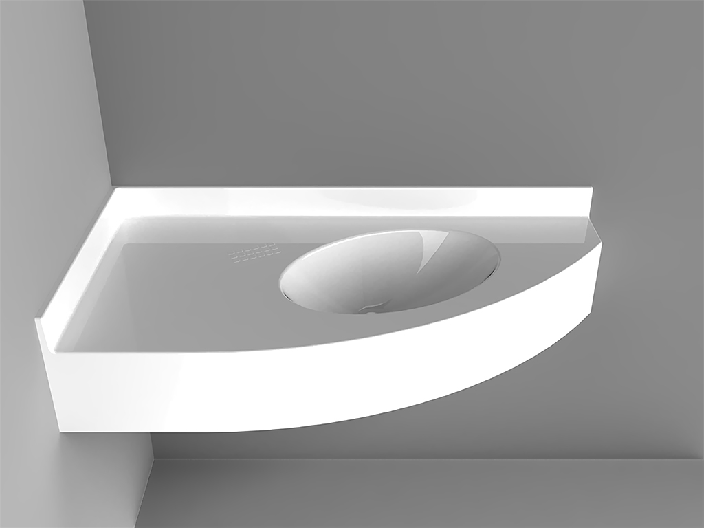 Roma Sxleft Corner-mounted Washbasin