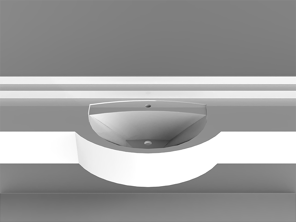 Rimini SmallWall-mounted Washbasin